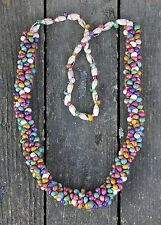 Multi-Color Shell necklace Hand Made by the Seri of Sonora Mexico Tribal Hippie