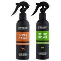 Animology Dirty Dawg No Rinse Dog Shampoo and Stink Bomb Refreshing Spray Set
