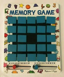 Melissa and Doug Wooden Travel Memory Game Vacation Learning Game Flip To Win