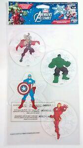 Marvel Avengers Reuseable Window Gel Clings Thor Captain America Hulk Iron Man