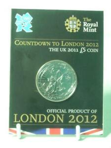 Royal Mint 2011 COUNTDOWN TO LONDON 2012 BU £5 POUND COIN Sealed on Card