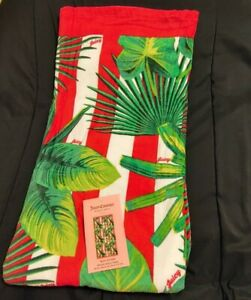 """JUICY COUTURE """"THE PALM BEACH""""🌴 Towel Hot Pink Multi Tropical Theme 36x68 NWT"""