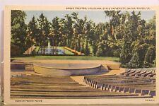 Louisiana LA Baton Rouge LSU State University Greek Theater Postcard Old Vintage