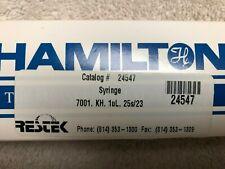 Hamilton Restek 7001 Series Syringe 80135 Catalog 24547