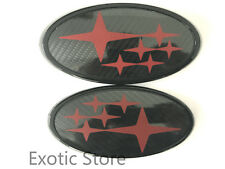 SB-CBR Carbon Fiber Star Grille Trunk WRX STI Badge Emblem Sticker For Subaru