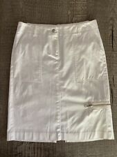 Theory Pencil Skirt White Ivory 2