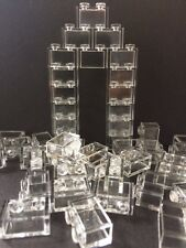 Lego Lot Of 50 1X2 Bricks White Transparent Clear Translucent Without Pin Window