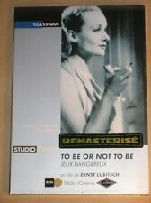 DVD / TO BE OR NOT TO BE / LUBITSCH / EDITION STUDIO CANAL / AVEC BONUS / NEUF
