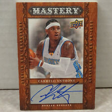 2007-08 Upper Deck Chronology Mastery Carmelo Anthony Nuggets ON CARD Auto 19/25
