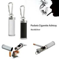 EDC Gadgets Portable Pocket Cigarette Ashtray Keyring Metal Hasp Cylindrical