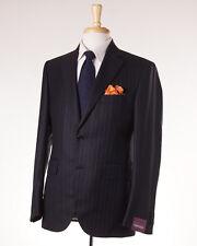 NWT $3895 SARTORIA PARTENOPEA Black Multi-Stripe Wool-Cashmere Suit 38 R (Eu 48)