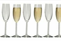 NEW Ecology Classic Flute Champagne Glasses 175ml Set of 6 Long Stem FREE Post