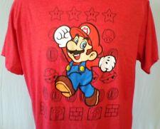Super Mario Red XL T-Shirt Mario Cotton Blend