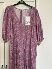 Floral Print Jumpsuit Zara Size L New With Tags