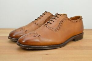 CLEAN Allen Edmonds Cornwallis Oxford Size 9.5 D Walnut Luxury Dress Shoes
