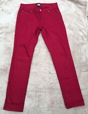 White House Black Market Dark Pink Fuscia Jeans Slim Leg Blanc 6 Regular EUC