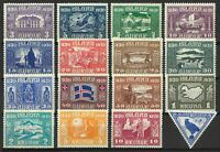 Iceland 1930 Millenary Set of 16 Stamps Incl. 10a Air Scott 152/66, C3 MLH 11-6