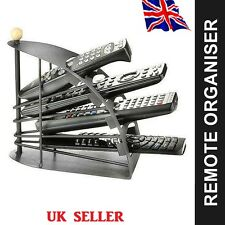 Remote Control Stand Hand Carved Holder Organiser TV Caddy 4 Compartments