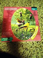 "Oval ""Country Morning Goldfinch"" 750 Piece Jigsaw Puzzle Hautman Brothers"