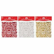 1x Foil Christmas Festive Table Runner Decoration in Shiny Red Gold or Silver 2m