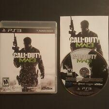 PS3 Call of Duty Modern Warfare 3 COMPLETE Sony Playstation 3 COD MW3