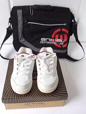 Animal B Mitch C/TOE 651 White/Red Trainer Shoe Size UK 4 / Eur 37 & Laptop Bag
