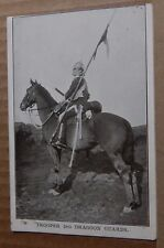 Postcard WW1 Trooper 2nd Dragoon Guards  Unposted