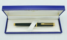 WATERMAN GENTLEMAN GREEN LAQUER & 18K GOLD FOUNTAIN PEN FINE  PT NEW IN BOX *