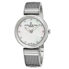 Charriol Women's Forever Diamond Dial Stainless Steel Quartz Watch FE32101000
