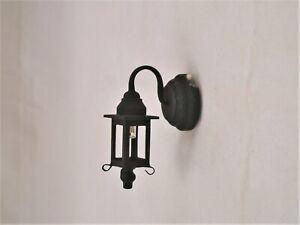 Light - LED Black Coach Lamp 2308 dollhouse 1/12 scale replaceable battery metal