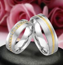 2 Echt Silber 925 Trauringe Eheringe Verlobungsringe , Gravur Gratis , J350-WG