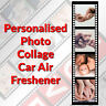 Personalised Car Air Freshener 4 Photo Collage - Ideal Gift - BUY 3 GET 1 FREE