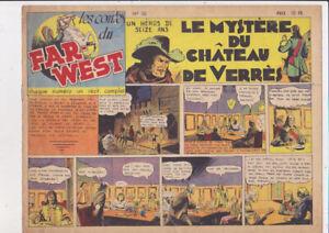 LES CONTES DU FAR WEST n° 30 elan 1947  western récit complet