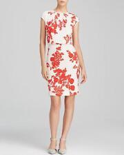 Tory Burch Red Pepper IIssy Boquets Print Lydie S/L Dress $375 NWT M