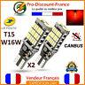 2 x ampoule LED T15 W16W 4014 Rouge CANBUS ANTI ERREUR Voiture Feux