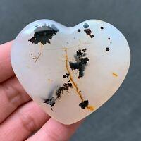 75g Natural Aquatic Plants Heart Agate Polished Love Quartz Crystal CX0122