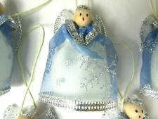 Angel Blue & Silver (5) Christmas Tree Ornament Doll Hanging Decor Kids Gift