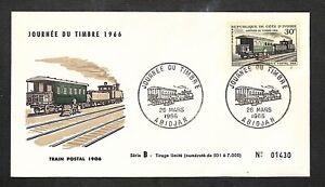 FDC - Enveloppe Premier Jour - REPUBLIQUE DE COTE D'IVOIRE - TRAIN POSTAL - 1966