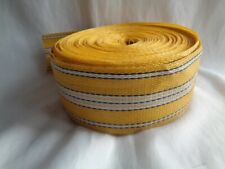 OLD STOCK YELLOW VINTAGE CHAIR WEBBING REPLACEMENT