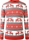 SSLR Men's Crew Neck Pullover Ugly Christmas Sweater