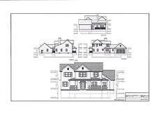 Full Set of two story 4 bedroom house plans 2,841 sq ft