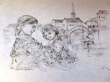 Bridge of Life -by Edna Hibel-NEW in MINT Condition