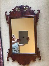 "More details for 27x15"" antique circa 1900 mahogany georgian revival chippendale fret pier glass"
