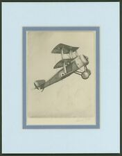 Sopwith Triplane - Vintage Collotype Print by Howard Leigh  Ready To Frame