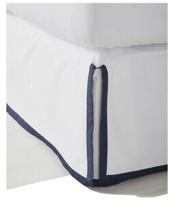 NWT $168 | Serena and Lily Border Frame Bed Skirt | Queen | Navy Blue/Midnight