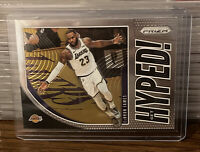 2019 - 2020 Panini Prizm Lebron James Get Hyped Insert #2 Los Angeles Lakers