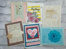 Lot of 6 Handmade Greeting Cards - Thank You - general encouragement note card