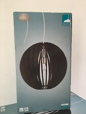 "Eglo Cossano 1-Light Matte Nickel Pendant 19.69"" Dark Brown"