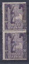 Regno 1923 Marcia su Roma 30c. MNH. Coppia. Unificato 142 - Catalogo 25€ !!!