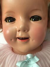 """Shirley Temple 27"""" Composition Doll Amazingly Restored W/Baby Take a Bow Dress"""